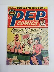 Pep Comics #93 Archie Comics 1952 Golden Age Romance/Bob Montana Cover