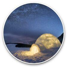 2 x Vinyl Stickers 30cm - Milky Way Snow Igloo Winter  #45729