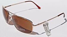 SUNCLOUD Navigator POLARIZED Sunglasses Gold/Brown NEW Smith Sport Aviator $60