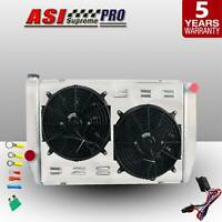 ASI 3Row Radiator+Shroud Fan+Relay FOR Ford XC XD XE XF Falcon V8 6cyl 79-86 MT