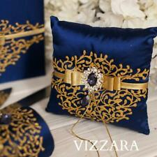 wedding Ring pillow wedding pillow Personalised wedding pillow Ring Navy blue