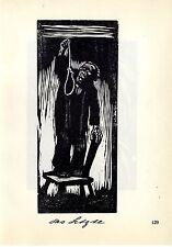 Käthe Kollwitz * Holzschitte Das Letzte / Selbstbild Historische Grafik 1930
