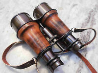Brass Binoculars Leather Belt Vintage Style Collectible