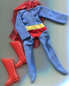 Vintage MEGO Superman suit and boots