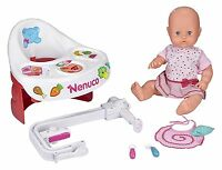 Nenuco Highchair Eat Baby Doll Ages 3+ Toy Girls High Chair Bath Food Highchair