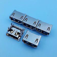 5Pcs HDMI 19Pin Female Socket PCB Mount SMT Solder Type Connector