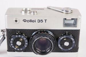 Rollei 35 T Kompakt-Kamera mit Tessar 40mm F3.5 Lens chrom SN: 6374263