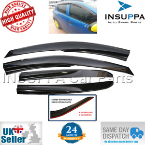 WIND RAIN SUN SMOKE GUARD DEFLECTORS 4pc FOR RENAULT SANDERO STEPWAY MK2 2012 ON