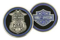 Harley-Davidson Challenge Coin, Police Trans with Bar & Shield Logo 8003111