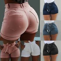 HOT Women High Waisted Denim Jeans Shorts Summer Casual Stretch Hot Short Pants