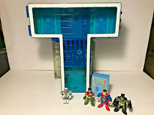 Teen Titans Go T Tower Playset (with Cyborg & Imaginext Super Friends)