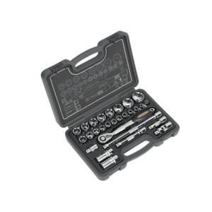 """Sealey AK7953 28 Piece Socket Set 1/2""""Sq Drive 6pt WallDrive"""