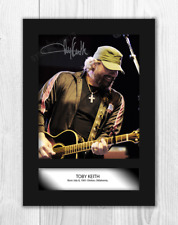 Toby Keith (1) A4 signed mounted photograph picture poster. Choice of frame.