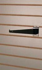 Box of 10 Retail Black 10 inch Slatwall Metal Shelf Brackets