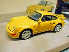 PORSCHE 911 964 Turbo 3.3 S Leichtbau gelb yellow 1992 Minichamps RAR 1:43