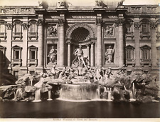 Italie, Roma, Fontana di Trevi del Bernini Vintage albumen print Tirage albumi