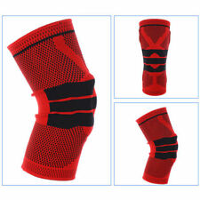 Sports High Compression Padded Knee Support Sleeve Nylon Silicon Brace NEU 2018 Red L