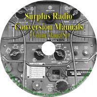 Surplus Radio Conversion Manual 3 Volumes Books CD,  Receiver Ham Service Repair