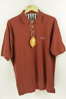 VINTAGE Mens VALENTINO Polo Shirt ITALIAN LOOSE Shirt Sleeve RED XL 90'S P64