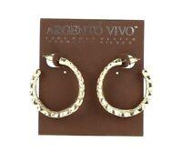 Argento Vivo Women's Gold Tone Hoop Earrings $78  128099