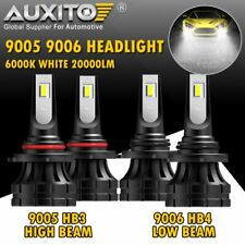 AUXITO Combo 9005 9006 LED Headlight High Low Beam Bulb Conversion Kit 40000LM