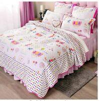 Brandream Kids Comforter Set 100% Cotton Lightweight Twin Quilt W/2 Pillow Shams