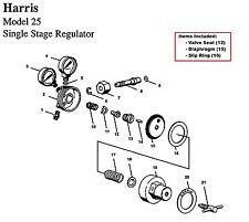 Harris Model 25 & 29 Regulator Rebuild/Repair Parts Kit w/ Diaphragm