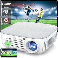 WiFi Beamer Heimkino-Beamer, Native 1080p Beamer Full HD 4K, 10000: 1, LED, 5G