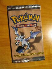 SEALED Pokemon Unlimited FOSSIL SET Card Weighed-Light BOOSTER PACK Aerodactyl#2