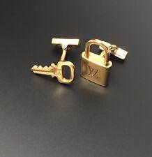 Louis Vuitton Sterling Silver Lock & Key Cufflinks