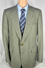 Paul Stuart Houndstooth 100% Wool Sport Coat Jacket Gray Check 42 Extra Long