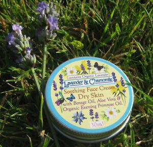 "30ml ""Lavender (organic) & Chamomile"" Ess Oil Face Cream + Evening Primrose oil"