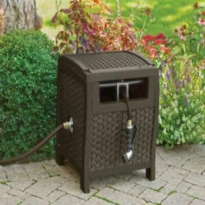 Garden Hose Reel 175 Ft Water Storage Hideaway Retractable Outdoor Yard Watering