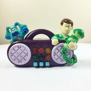 Vintage Mattel Blues Clues Kareoke Boombox Microphone Interactive Toy