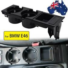 Center Console Storing Coin Holder Cup Holders For BMW E46 51168217953 BLK