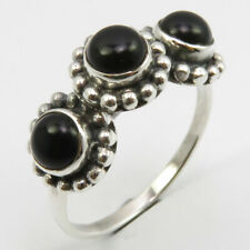 Stone Ring # 7.5 Jewelery Gift 925 Stamped Sterling Silver Black Onyx 3