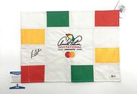 BROOKS KOEPKA PGA SIGNED LIMITED CHECKERED FLAG AUTOGRAPH BECKETT BAS COA