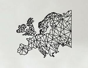 Europe Art - Wooden Laser Cut Wall Art - Geometric Country Art