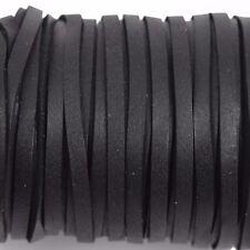 """50ft 1/8"""" Deerskin Leather Lace, BLACK, Deer Skin Realeather 3mm, Lth0038"""