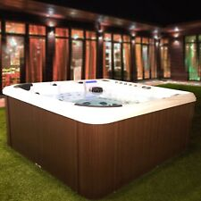 Brand New CrescentBayDeluxe II Hot Tub With Bluetooth & American Balboa Control
