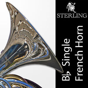 SILVER PLATED • Bb SWFH-700 Single STERLING FRENCH HORN • Pro • SAVE $200!!