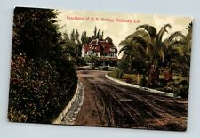REDLANDS CALIFORNIA CA VINTAGE VIEW OF HOME OF A. K. SMILEY POSTCARD A1-2
