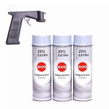 Haftgrund grau AVO Grundierung Lackspray Sprühlack 3x 500ml mit Handgriff A011SH