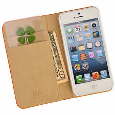 Real 4 Four-Leaf Clover Bookmarks Lucky Charm for Smartphone Wallet Case Purse L