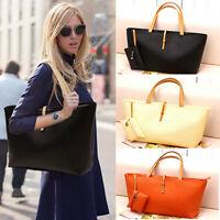 Fashion Womens Classic Leather Tote Shoulder Handbag Satchel Bag Purse Shopper