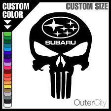 Subaru Punisher Decal BRZ Impreza STI WRC XV Legacy Justy AWD Car Sticker Label