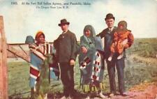 Fort Hall Indian Agency, Pocatello, Idaho Native Americana 1909 Vintage Postcard