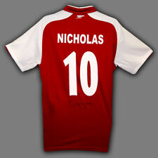 Charlie Nicholas Signed Arsenal  Replica Football Shirt