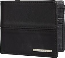 BILLABONG MENS WALLET.NEW FIFTY50 FAUX LEATHER BLACK CARD COIN NOTE PURSE 8W 8 1