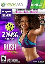 Zumba Fitness Rush (Xbox 360, 2012) Brand New ~ Factory Sealed!